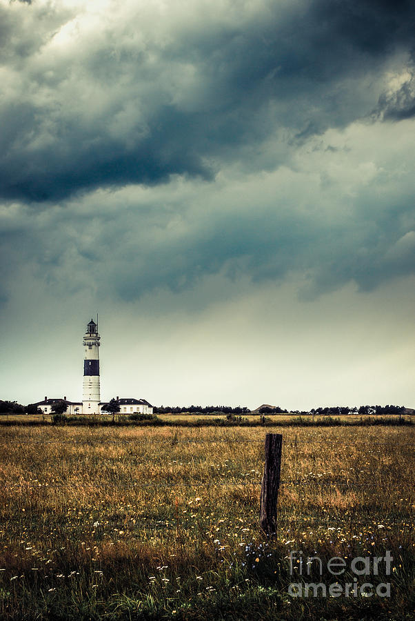 Idyllic Photograph - Lighthouse Of Kampen -vintage by Hannes Cmarits