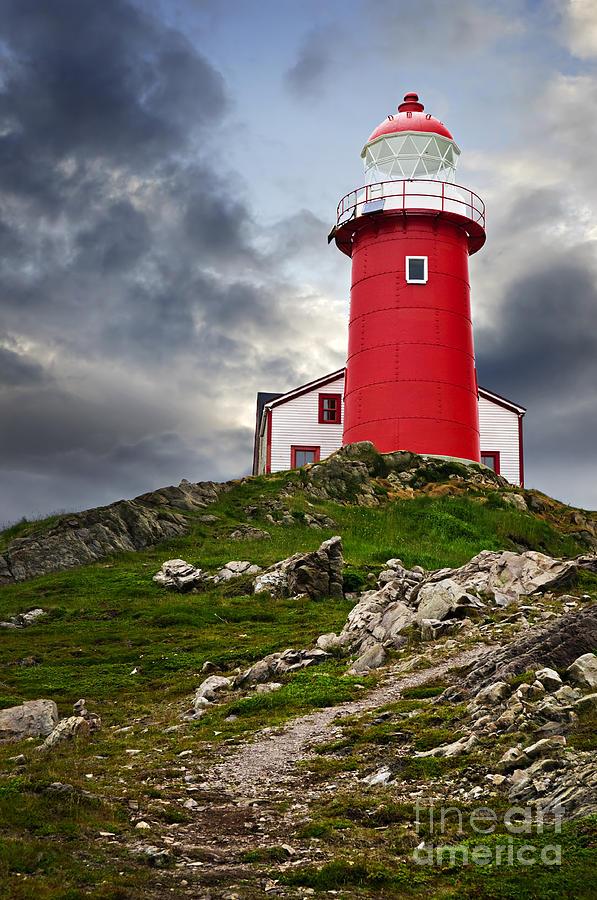 Lighthouse Photograph - Lighthouse On Hill by Elena Elisseeva
