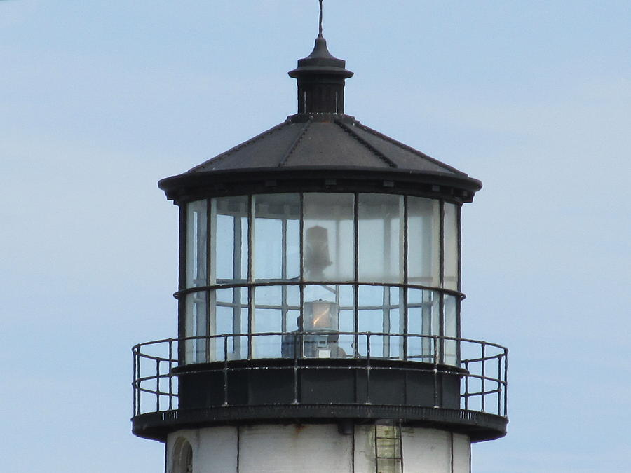 Sky Photograph - Lighthouse Visit by Loretta Pokorny