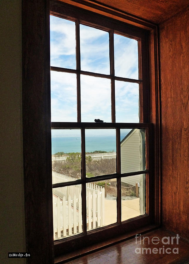Lighthouse Photograph - Lighthouse Window by Methune Hively