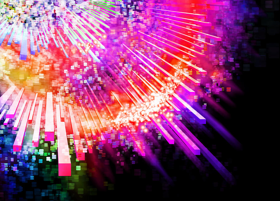 Abstract Photograph - Lighting Explode by Setsiri Silapasuwanchai