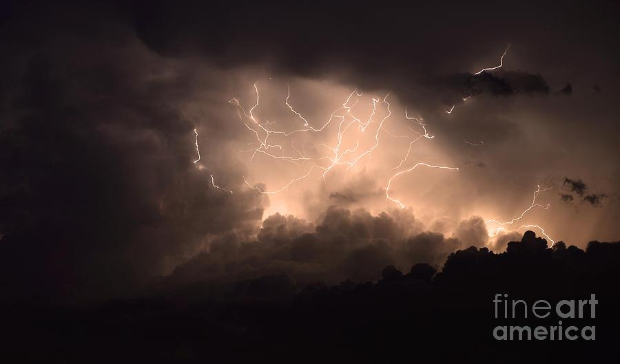 Lightning Photograph - Lightning by Bob Christopher