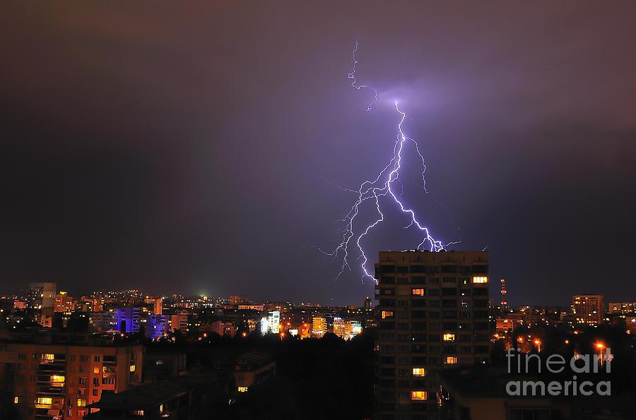 Landscape Photograph - Lightning by Evmeniya Stankova