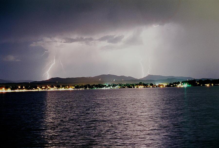 Lightning Photograph - Lightning Lake by Trent Mallett