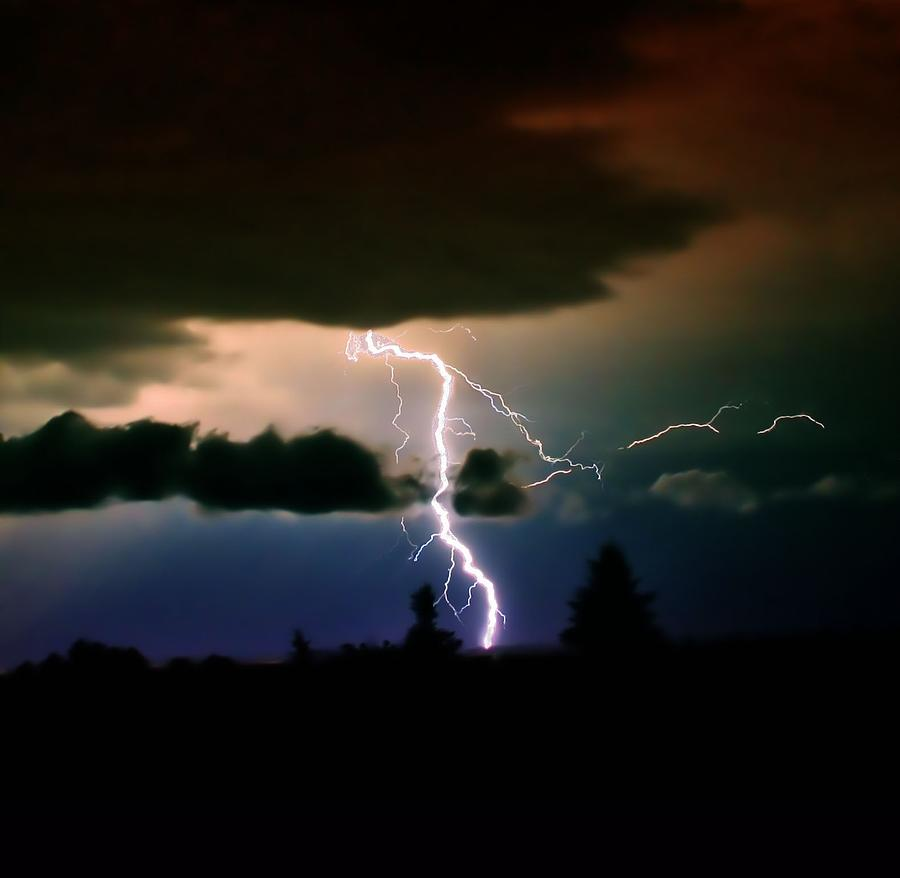 Lightning Photograph - Lightning Over The Plains I by Ellen Heaverlo