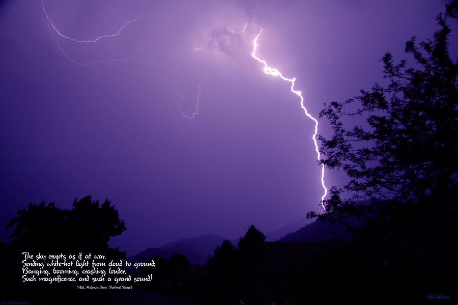 Lightning Photograph - Lightning Over The Rogue Valley by Mick Anderson