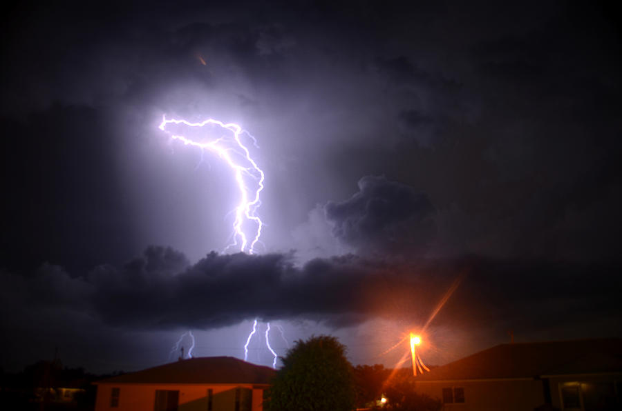 Lightning Photograph - Lightning Strikes by Ronald T Williams