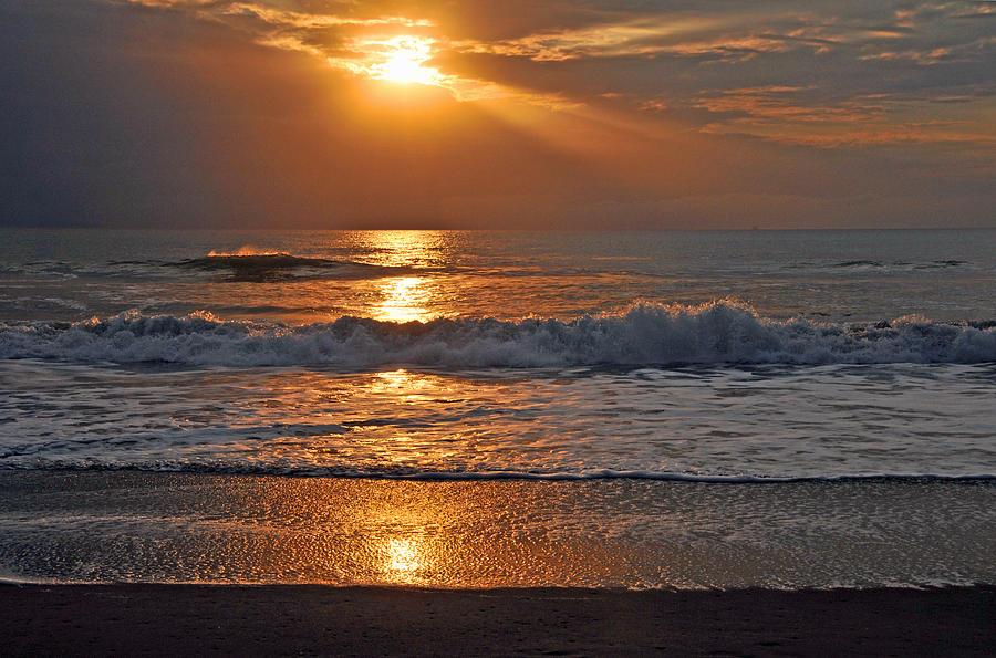 Ventura Beach Photograph - Lights On Ventura by Lynn Bauer
