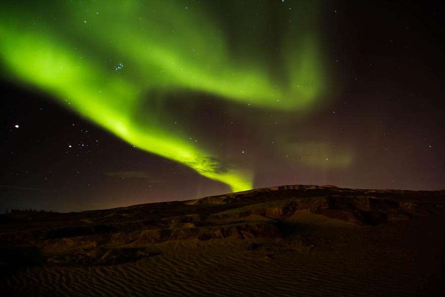 Canada Photograph - Lights Over The Desert by Darren Langlois
