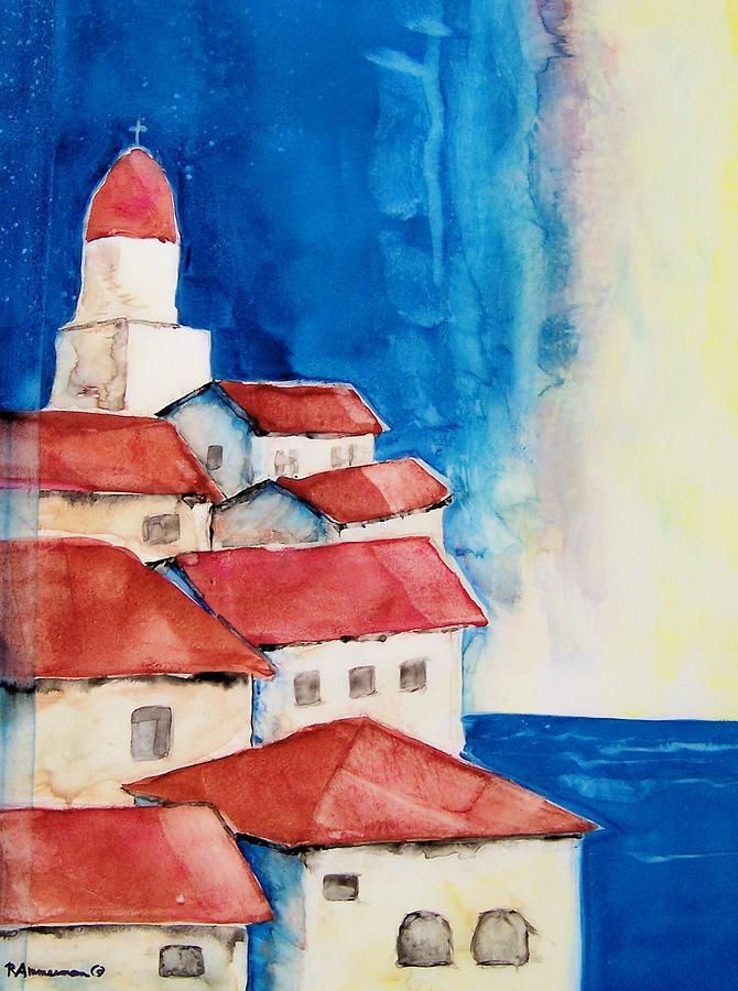 Italian Architecture Painting - Ligurian Coaast by Regina Ammerman