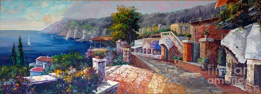 Landscape Painting - Like A Fairytale by Kostas Dendrinos