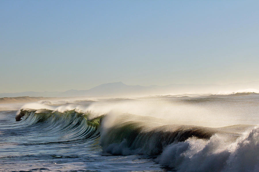 Waves Photograph - Like Wild Horses by Cedric Darrigrand