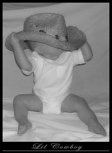 Cowboy Photograph - Lil Cowboy by LeAnne Hosmer