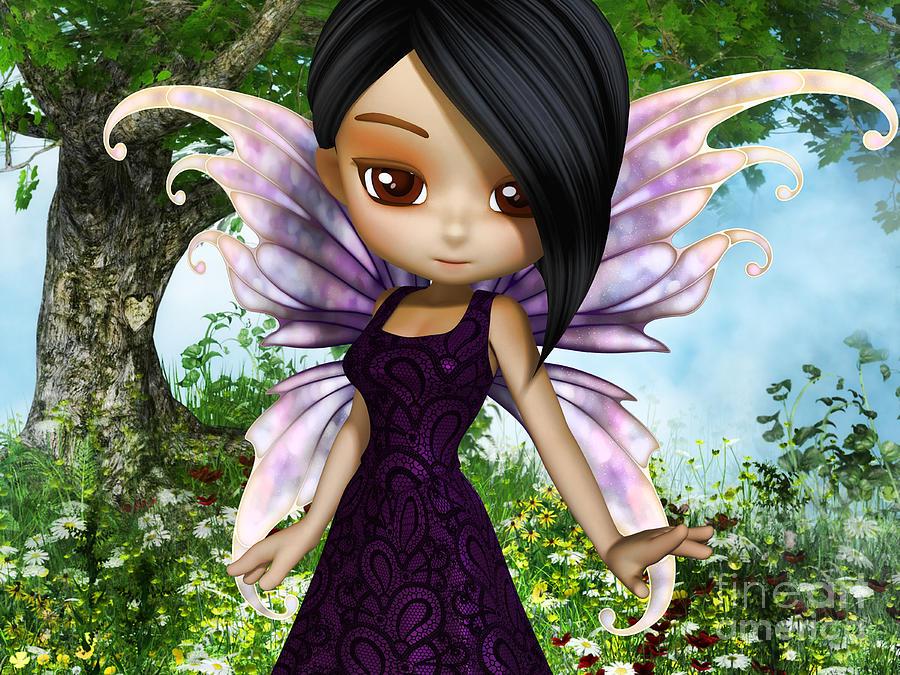 3d Digital Art - Lil Fairy Princess by Alexander Butler