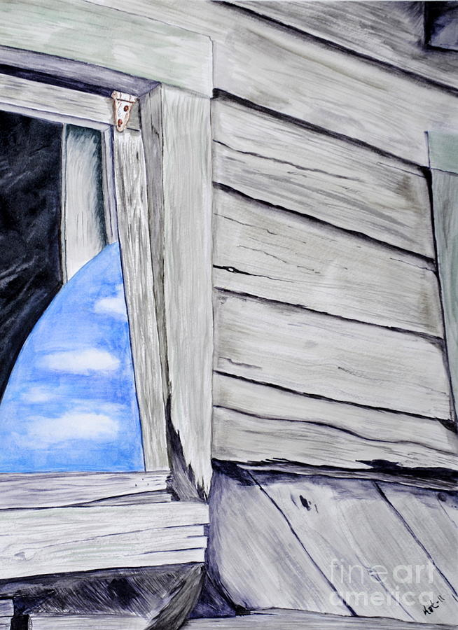 Old Building Painting - Lil House by Art Hill Studios