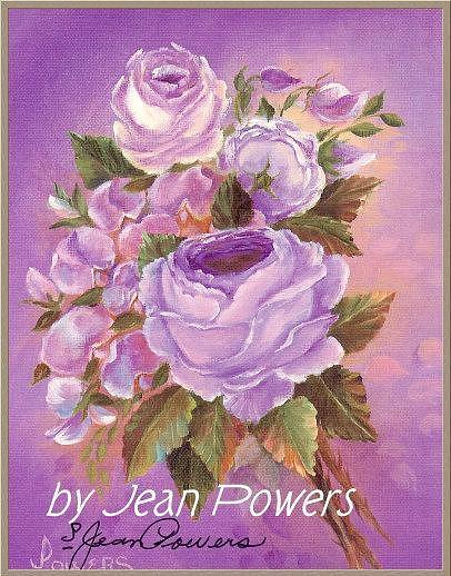Lilac Rose Painting by Jean Powers