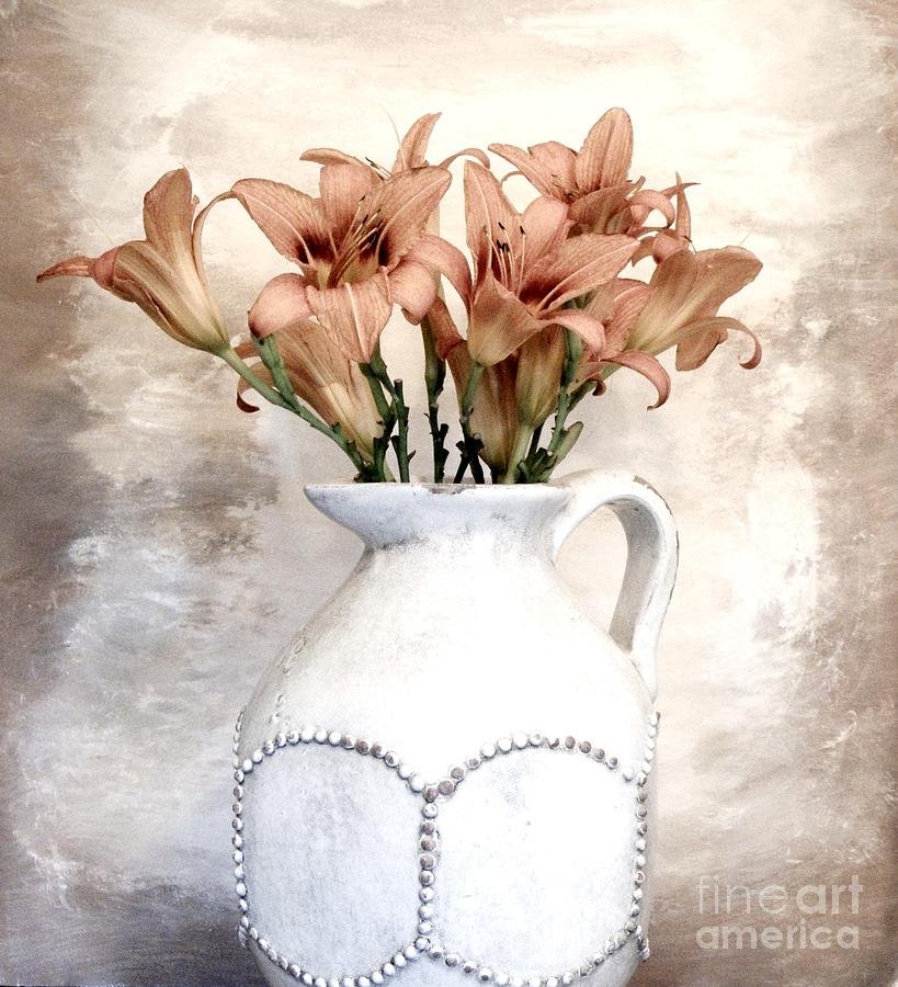 Photo Photograph - Lilies Pitcher by Marsha Heiken