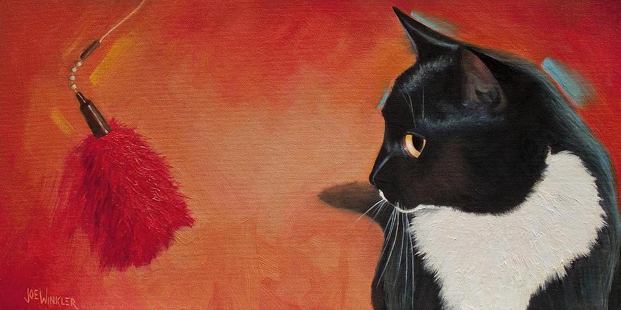 Cat Painting - Mesmerized by Joe Winkler