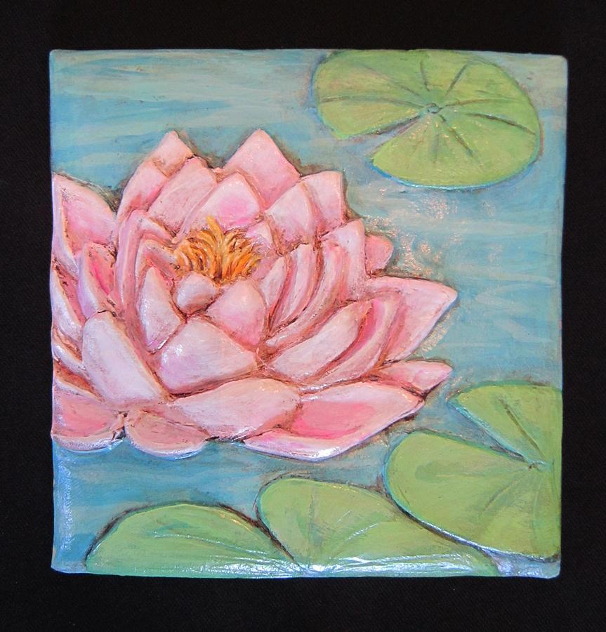 Lily Ceramic Art - Lily1iltblupk by Janet Knocke