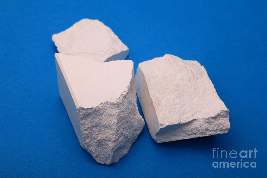 Science Photograph - Lime Made From Marble by Ted Kinsman