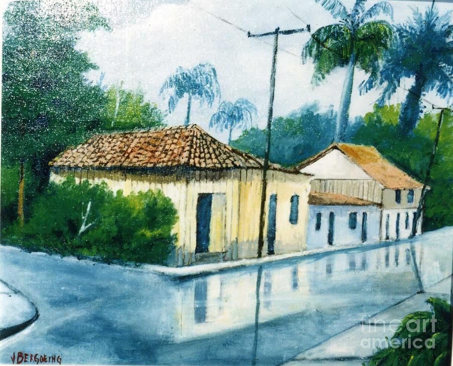 Houses Painting - Limon Houses by Jean Pierre Bergoeing