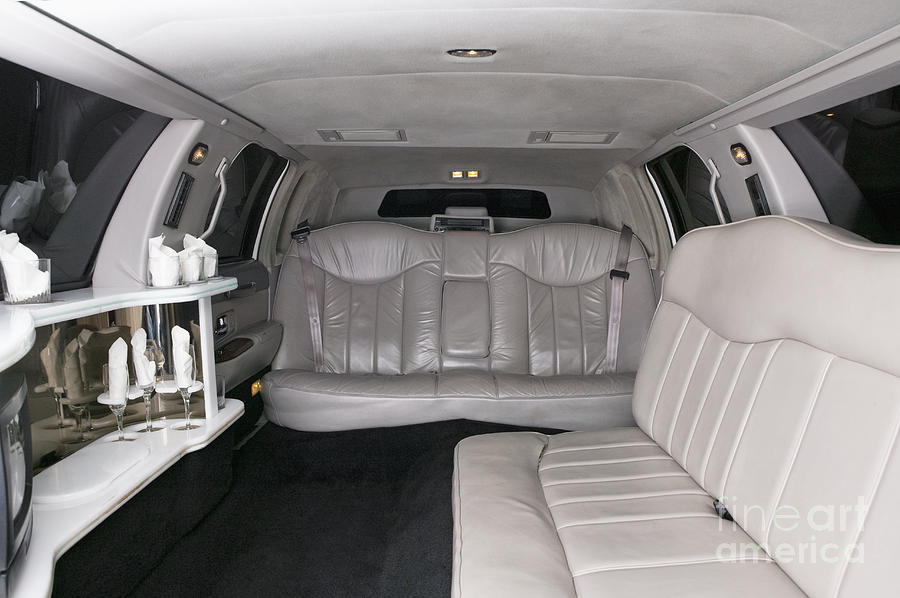 Affluence Photograph - Limousine Interior by Andersen Ross
