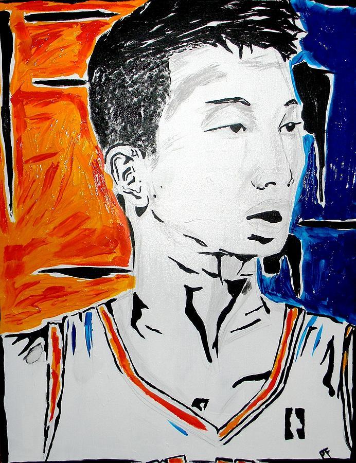 Jeremy Painting - Lin  by Patrick Ficklin