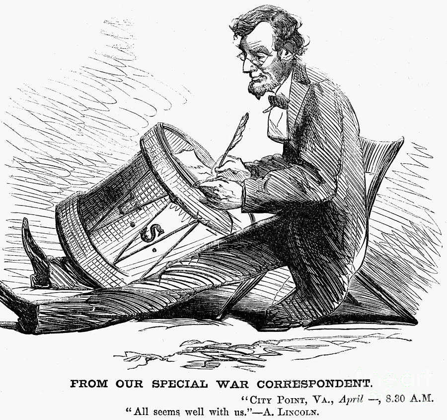 Lincoln Cartoon 1865 Photograph By Granger