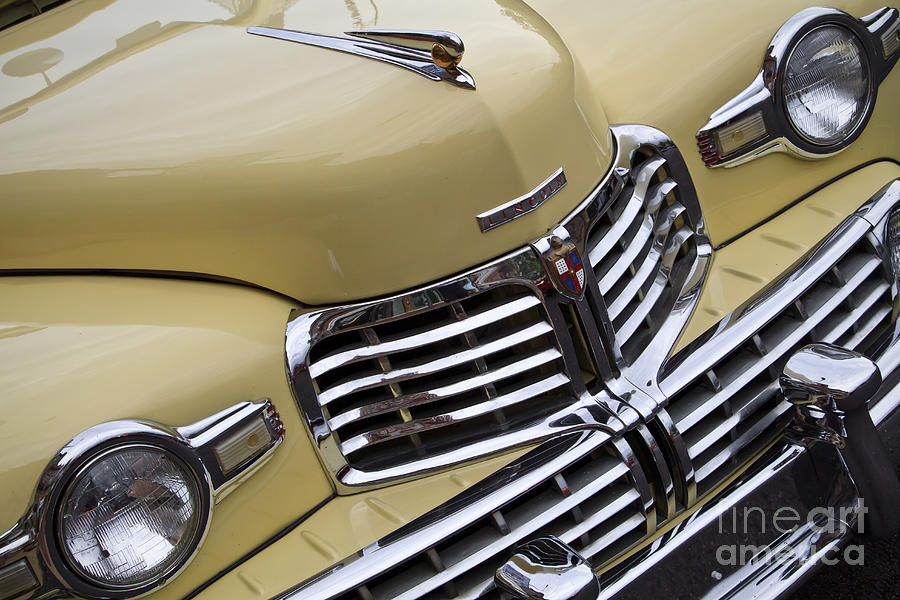 1948 Lincoln Continental Photograph - Lincoln Grille by Dennis Hedberg