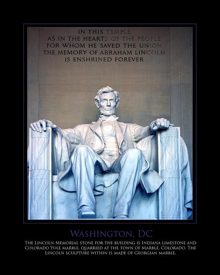 Washington Photograph - Lincoln Memorial by Jim McDonald Photography