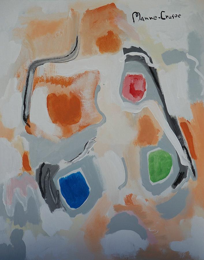 Abstract Painting - Linda by Jay Manne-Crusoe