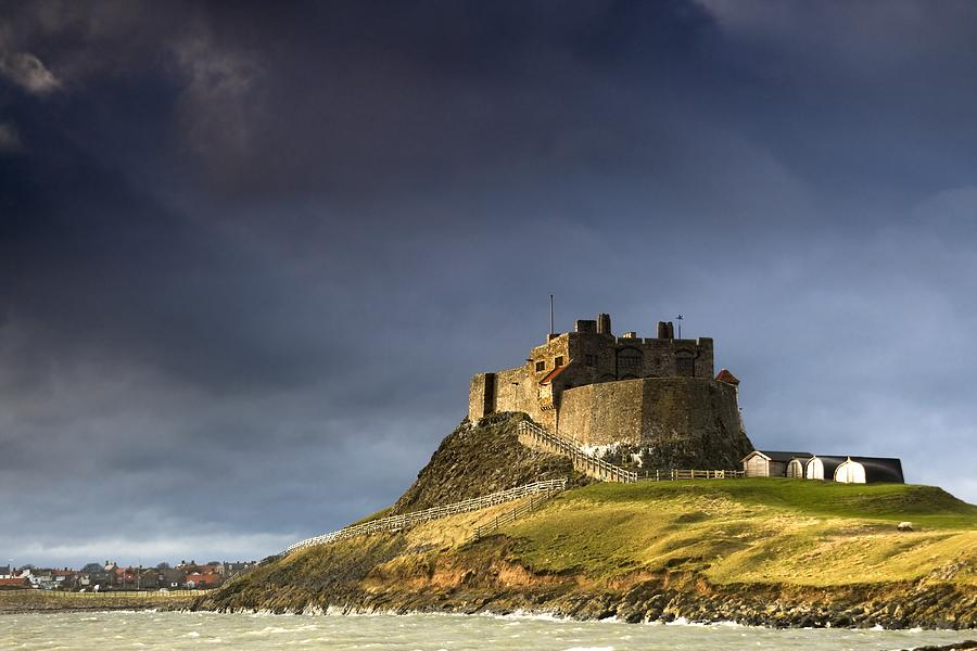 Architectural Photograph - Lindisfarne Castle On A Volcanic Mound by John Short