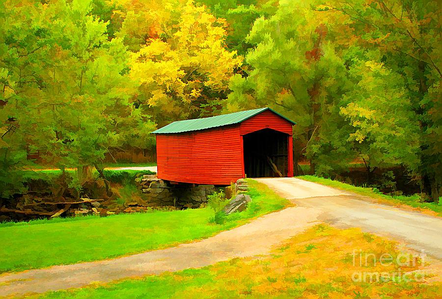 Links Farm Covered Bridge Photograph