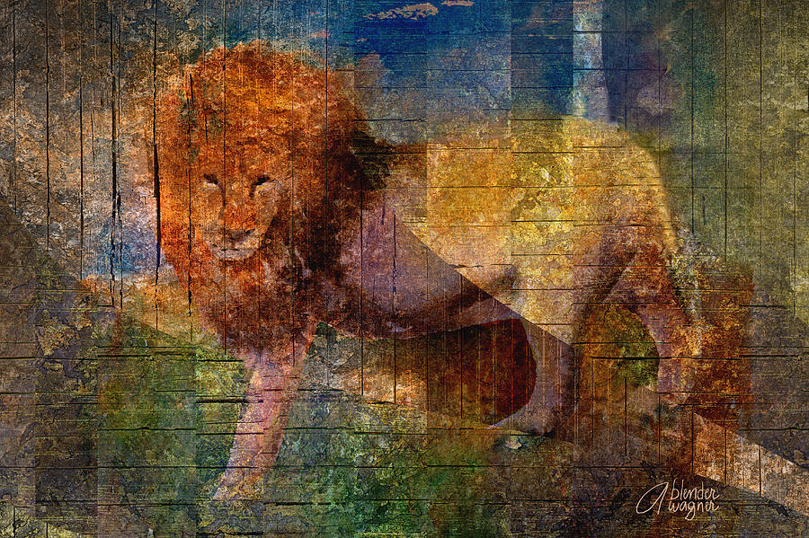 Lion Mixed Media - Lion by Arline Wagner