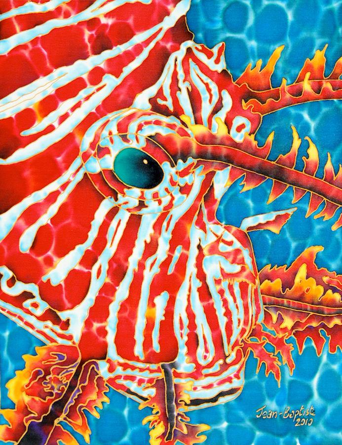Lion Fish Tapestry - Textile - Lion Fish Face by Daniel Jean-Baptiste