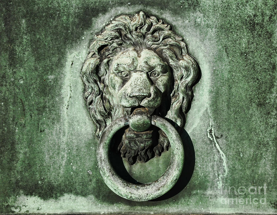 Lion Head Door Knocker Photograph   Lion Head Door Knocker By Paul Ward