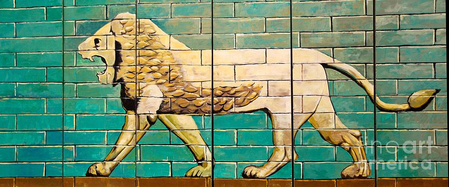 Iraq Photograph - Lion Of Babylon by Unknown - Local Iraqi National
