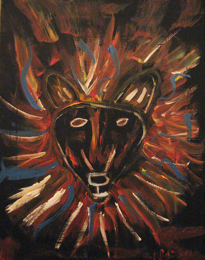 Lion Painting - Lion Of The Tribe Of Judea by Kristen Pagliaro
