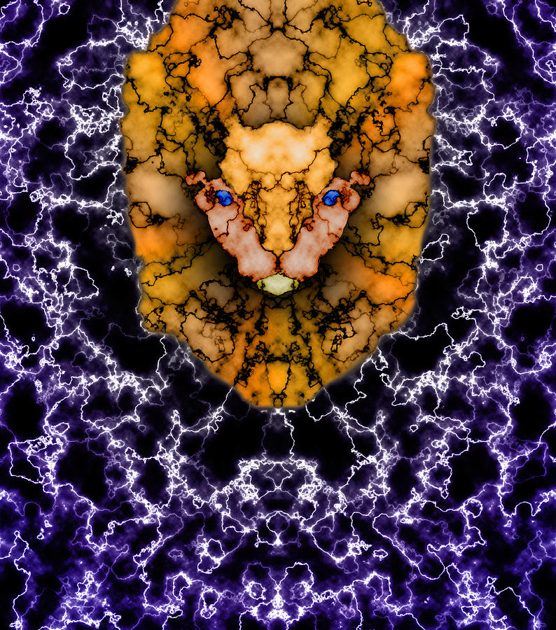 Lion Painting - Lions Roar by Christopher Gaston