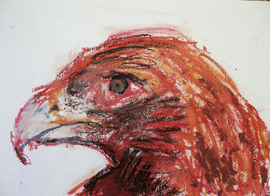 Bird Painting - Lipstick Eagle by Iris Gill