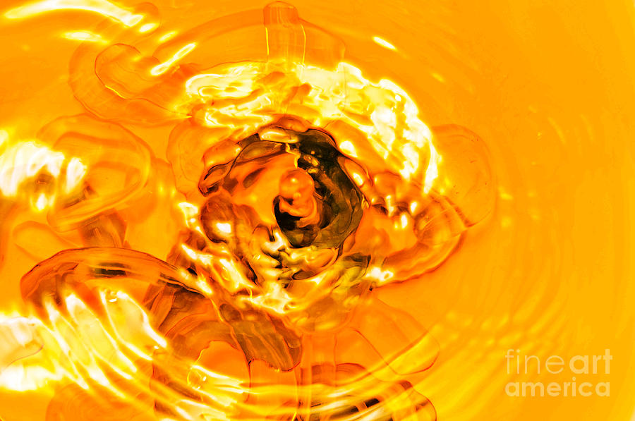 Water Photograph - Liquid Gold by Andee Design