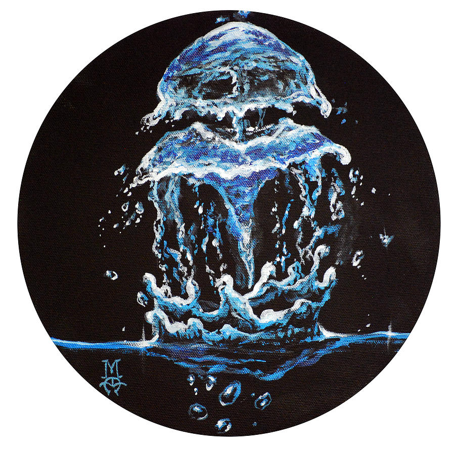 Jellyfish Painting - Liquid Jelly by Marco Antonio Aguilar