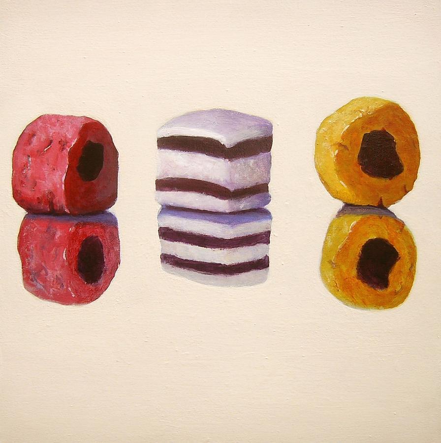 Liquorice Painting - Liquorice Allsorts by Nikki Rosetti