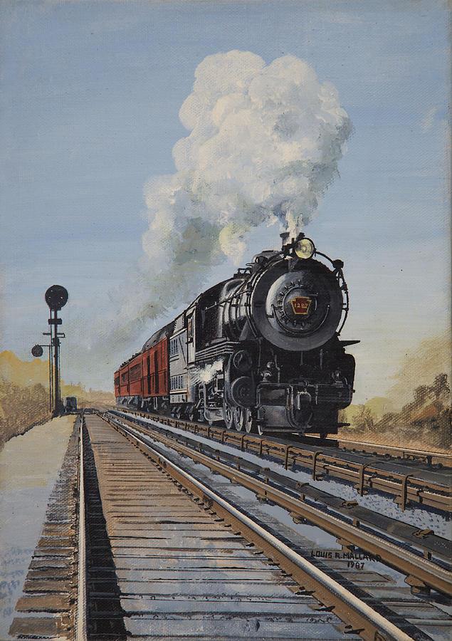 Lirr Steam Train Painting by Cora Monaghan