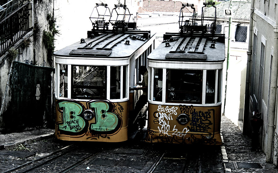 Trains Photograph - Lisbon Tram by Gabriel Calahorra