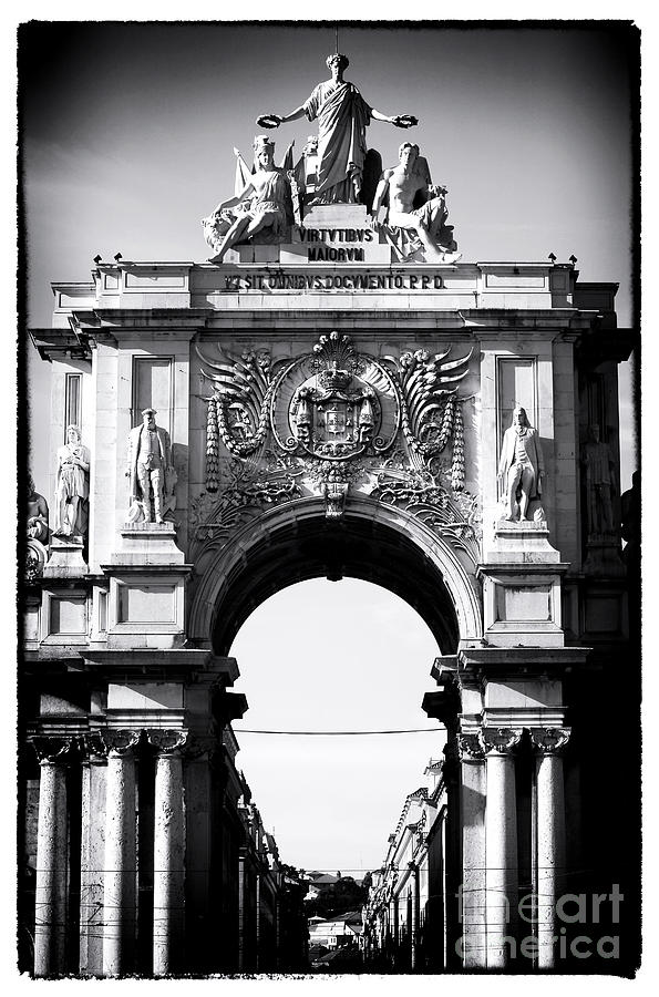 Statues Photograph - Lisbon Welcome by John Rizzuto