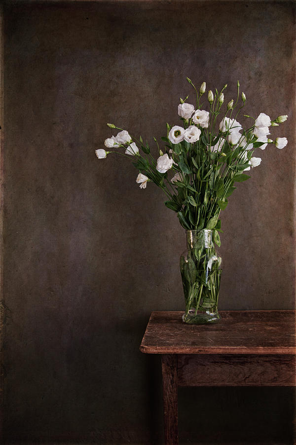 Vertical Photograph - Lisianthus Flowers by Paul Grand Image