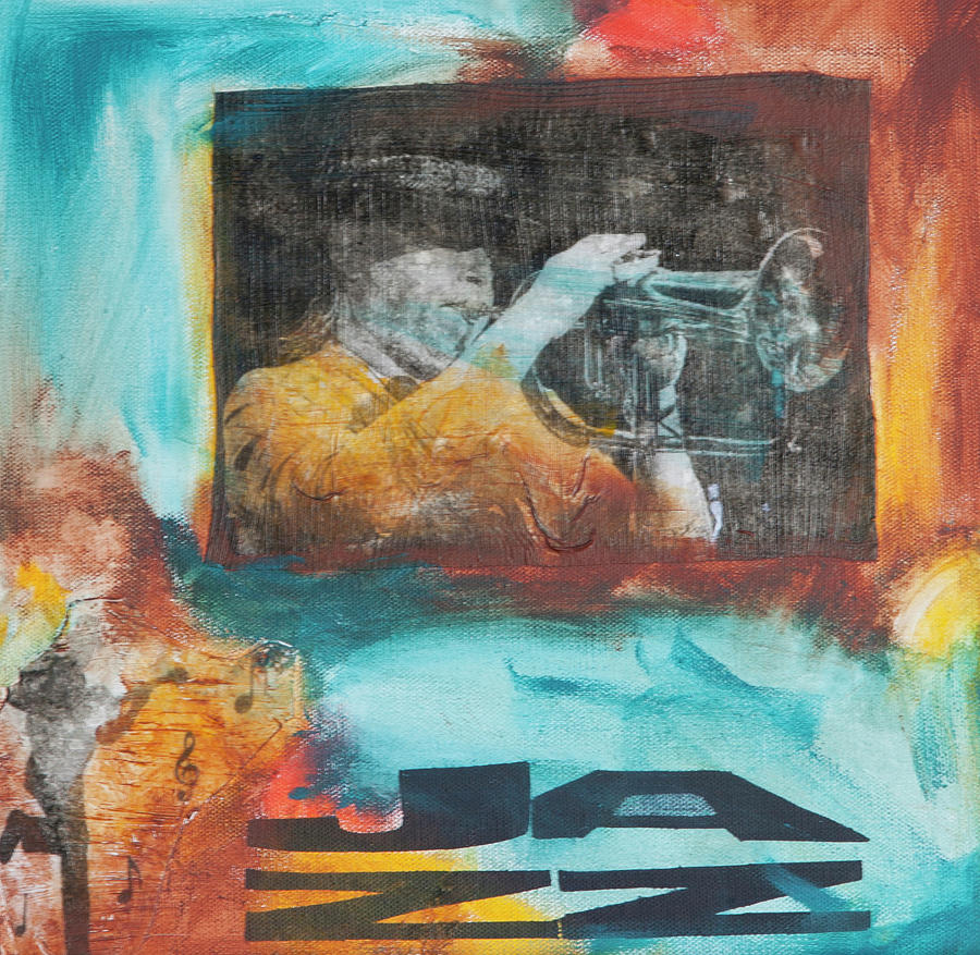 Trumpet Player Mixed Media - Listen To The Trumpet by Robin Lee