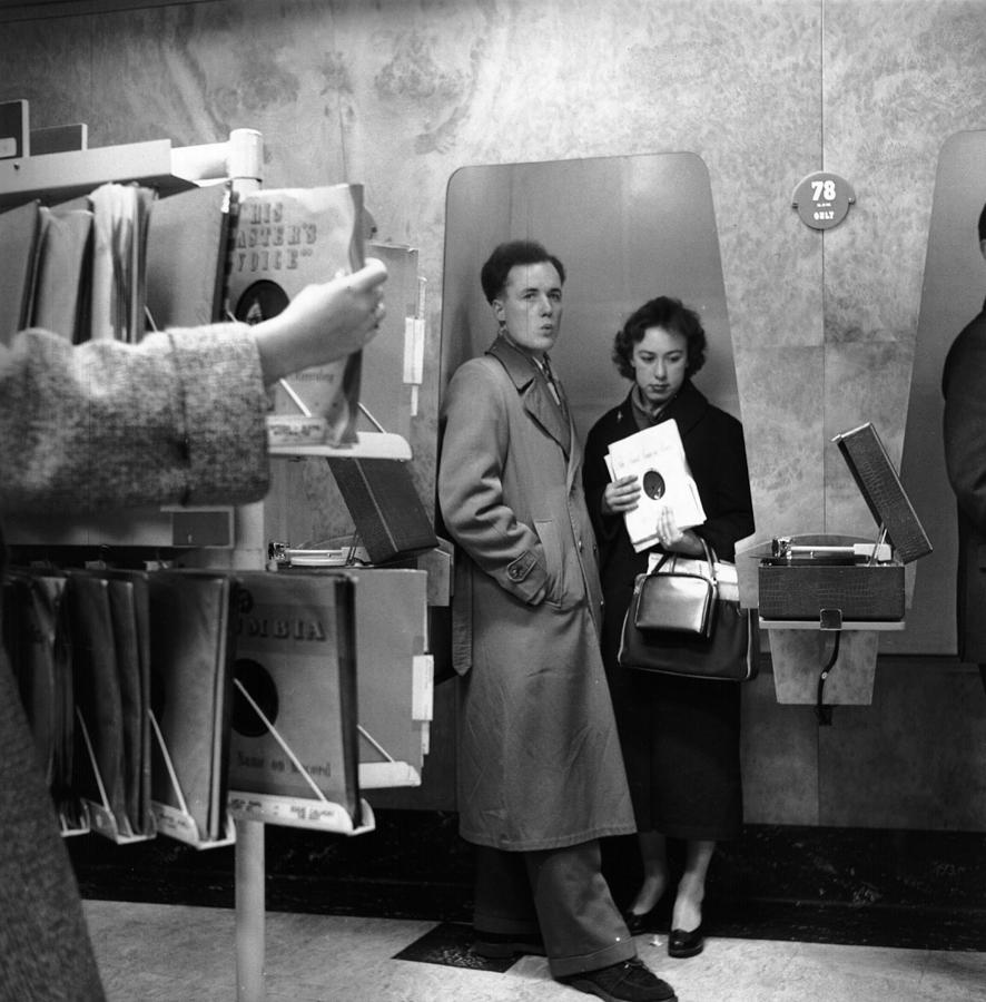 Adults Only Photograph - Listening Booth by John Drysdale