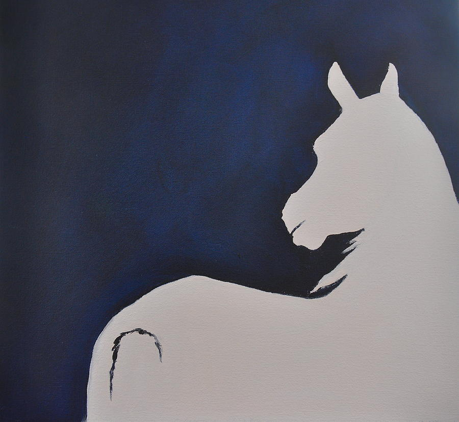 Horse Painting - Listening into the Blue by Rachel Dubber